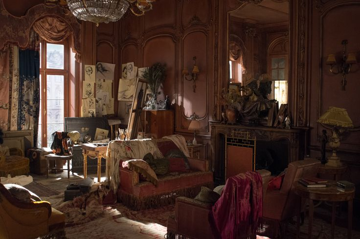 "Danish Girl set design 008 : Fabric was an important part of the Paris apartment's design, as was a set of French wall panels that Stewart found on eBay. ""It was in an old container on a farm and in a really, really, awful state,"" she says. ""But I feel like we dragged it out of its coffin and brought it back to life. It almost became its own character it was so beautiful."" Photo: Focus Features"