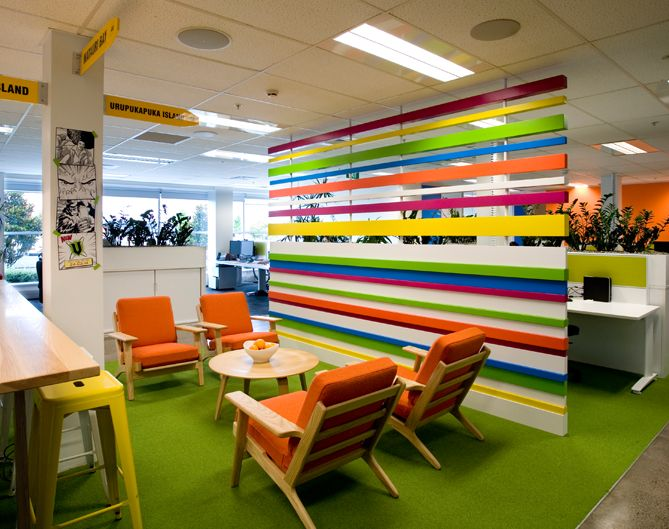 Frucor | To bring together a big team in a big space, you need a hub where people will congregate and communicate.