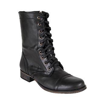 Steve Madden zwarte leren laarzen TROOPA | Intreza.nl