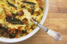 Cremet gratin med broccoli, blomkål og mascarpone