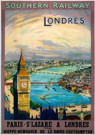 Londres   Vintage travel poster London