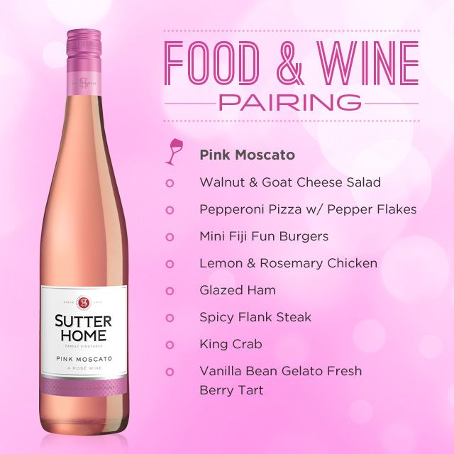 Sutter Home Pink Moscato Makes A Great Pairing With Almost