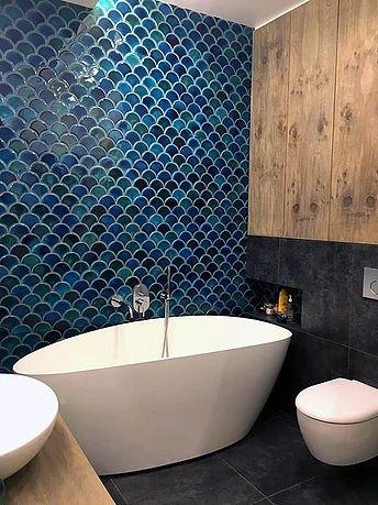 15 best Fish scale tiles images on Pinterest | Bathroom, Bathrooms ...