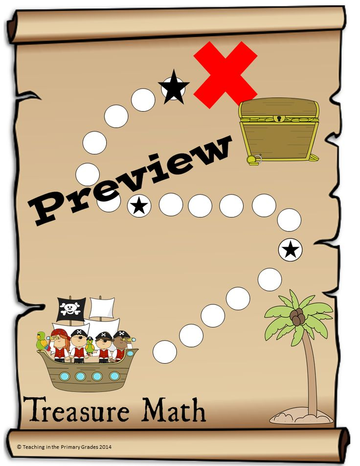 Treasure math is an incentive program to encourage addition fact fluency. Students take timed addition fact tests. Each time a student completes a test with 100% accuracy, they mark off a space on their Treasure Math board. If a student does not achieve 100% accuracy they retake the test until they are successful (multiple test forms are provided). Each student works at their own pace!
