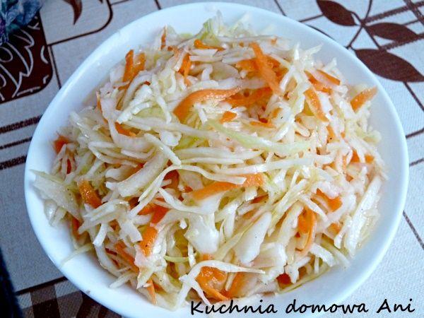Kuchnia domowa Ani: Chińska surówka z kapusty