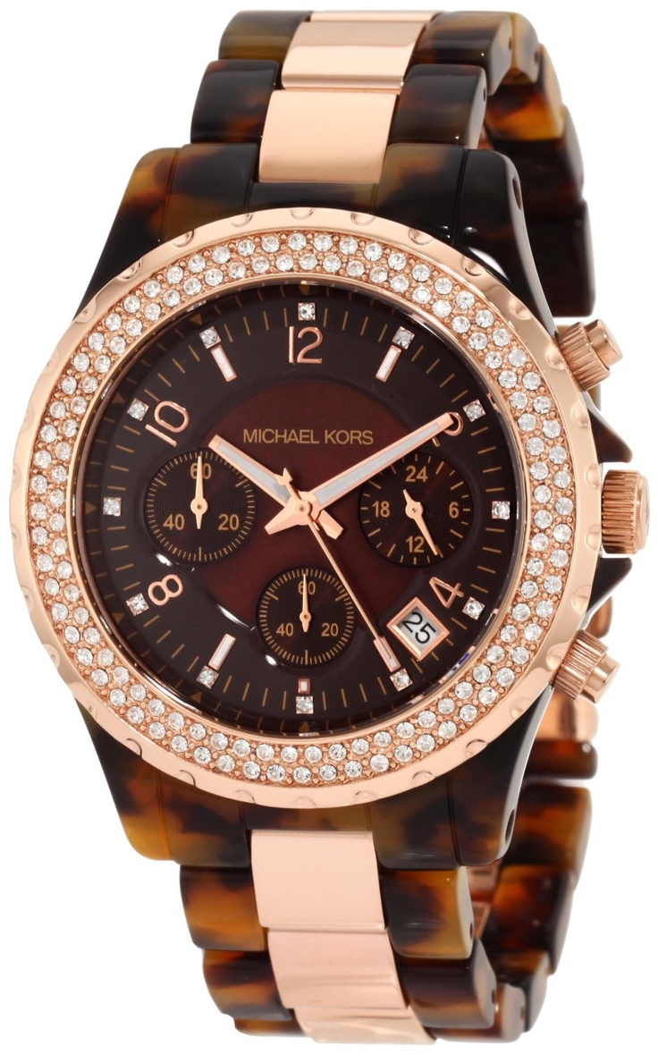 Michael Kors | Madison Chronograph Tortoise and Rose Gold MK5416