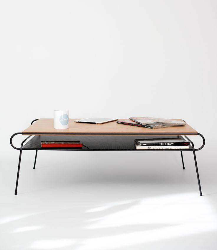 Coffee table Iron & wood series on Behance