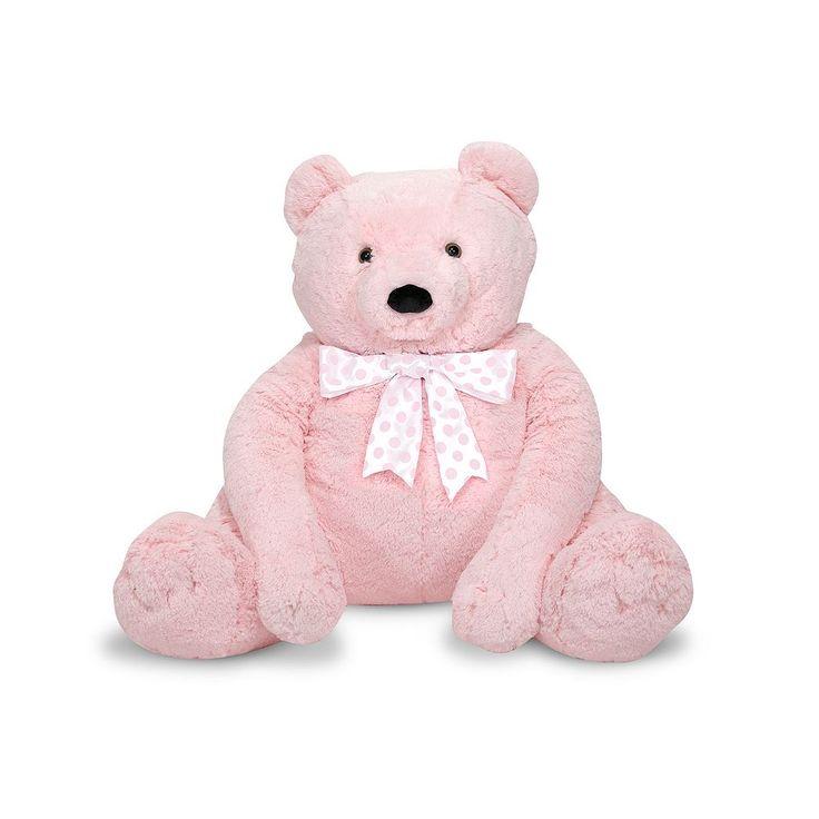 Melissa and Doug Jumbo Pink Teddy Bear, Multicolor