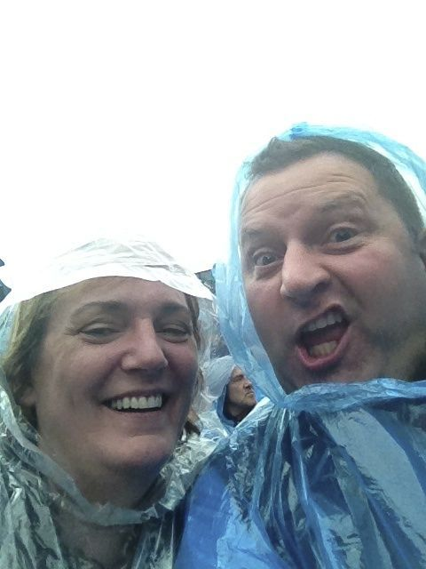 With Chris at the Meatloaf concert (outdoors in the rain!) June 2012