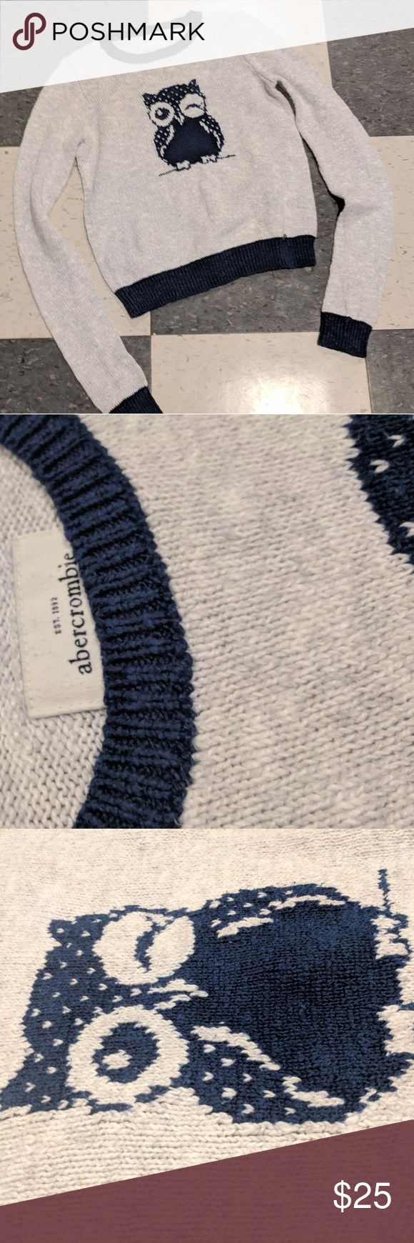 🦉 Abercrombie Kids girls medium Abercrombie Kids girls medium owl sweater Abercombie Kids Shirts & Tops Sweaters