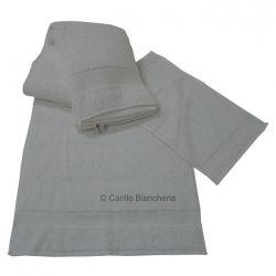 Telo doccia + asciugamani + ospite spugna 100% cot. Hotel B&B ecc. Bianco H164 #asciugamani #cotone #bianco #carillobiancheria #arredo
