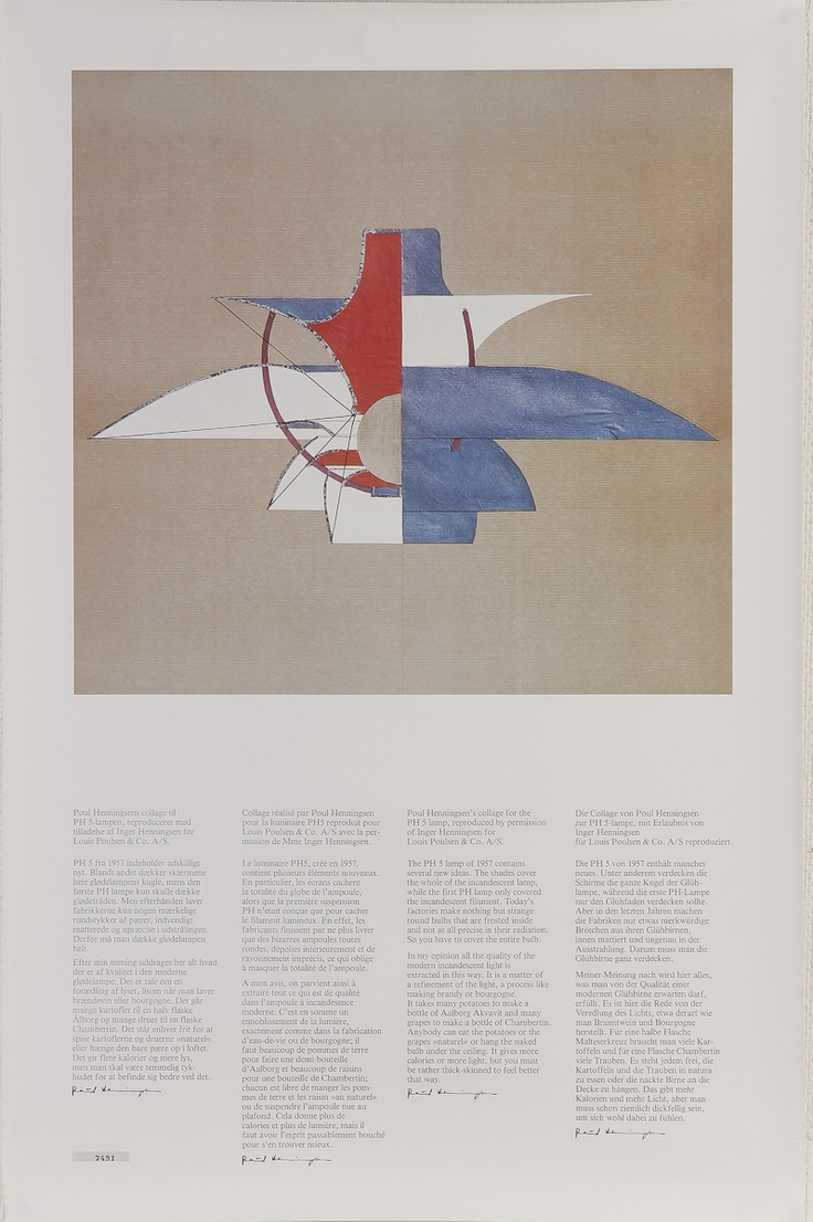Poul Henningsen's Collage of the PH5 Lamp