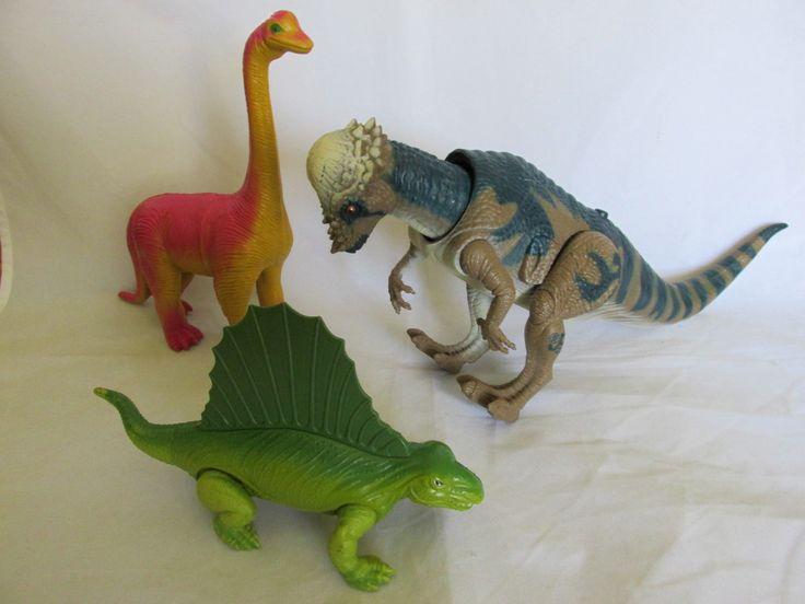 Vintage hard plastic dinosaurs - Jurassic Park, Playskool, Inc. and Imperial