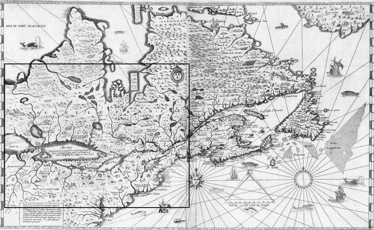 Samuel de Champlain's Carte de la Nouvelle France (1632).