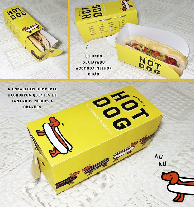 A proposta desse projeto é a criação de uma embalagem de Cachorro Quente padrão…