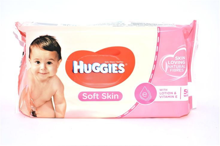 Huggies Soft Skin Baby Wipes with Lotion & Vitamin E, 56 ...