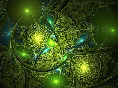 Fraktal Geheimnisvolles Leuchten Poster von gabiw Art