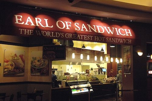 The king of the cheap, warm sandwich, Earl of Sandwich is a steal for a cheap meal on the Las Vegas strip.
