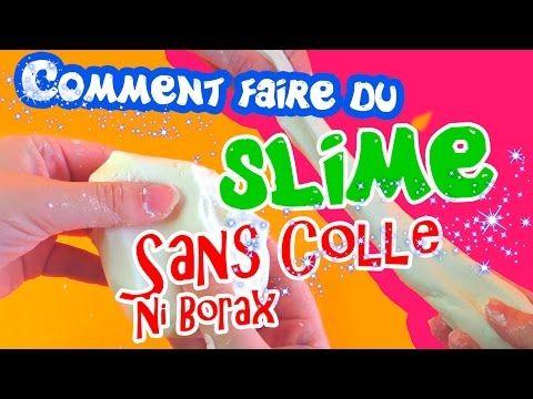 recette de slime fluffy sans colle