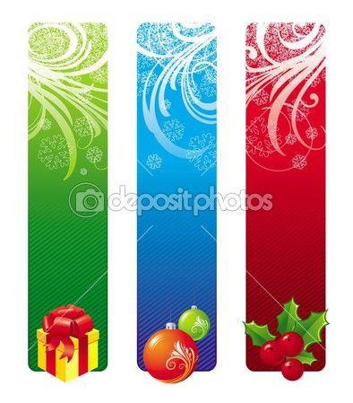 Рождественские баннеры — Векторная картинка #1841026