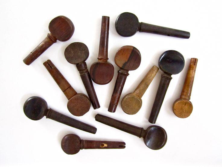 12 Mixed Violin Tuning Pegs. SOLD Violin tuning