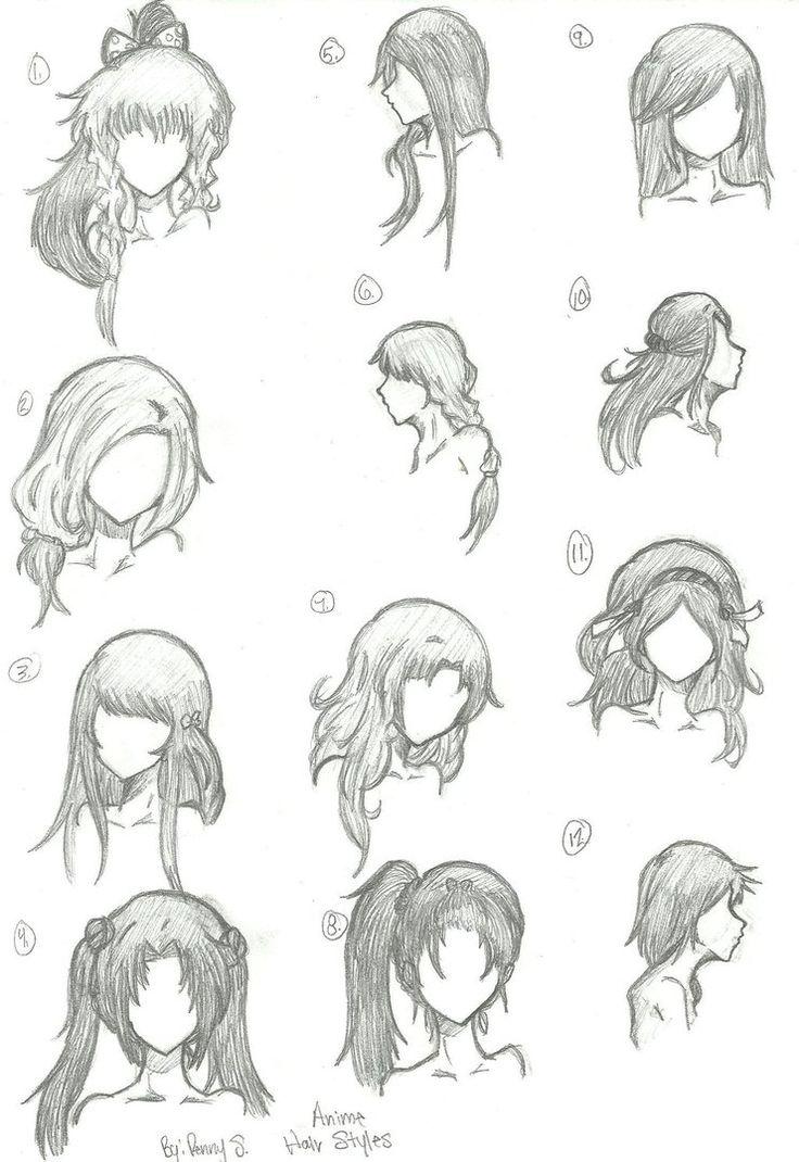 Hair Styles 1-12 by animebleach14 on DeviantArt