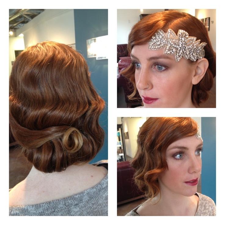 Gatsby/20's inspired wedding hair #moorehairdesign