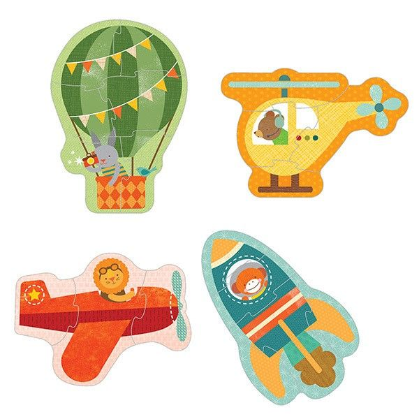 Petit Collage - Beginner Puzzle Set By Air  What a beautiful set of puzzles. Would be a hit in our household. #pintowin #entropywishlist