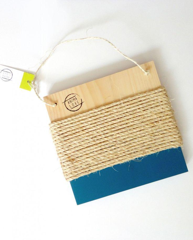 Cat scratcher. Pine & sisal & blue.  #cats #design #homedecor