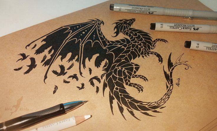 Thousands of black wings in the dark sky Custom tattoo design, work in progress. ETSY SHOP   INSTAGRAM FACEBOOK TUMBLR   PINTEREST ...