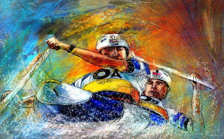 Olympic Fine Art | Olympics Canoe Slalom 04 Painting - Olympics Canoe Slalom 04 Fine Art ...