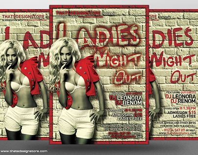 "Check out new work on my @Behance portfolio: ""Ladies Night Flyer Template V7"" http://on.be.net/1E024iM"