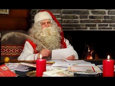 Interview of Santa Claus of Santa Claus in Santa Claus Village in Rovaniemi (Lapland, Finland)