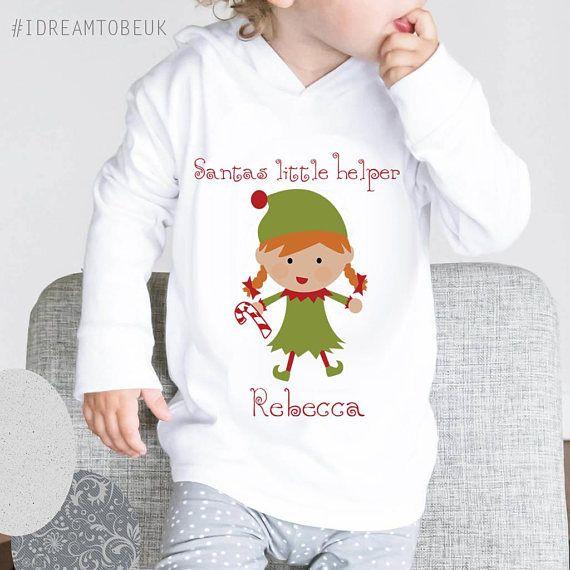 Santas Little Helper Christmas Hoodie  Christmas jumper baby