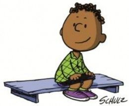 """Franklin, the first black kid in the Peanuts comic strip. From """"How The Peanuts Comic Strip Got Its First Black Character."""""""