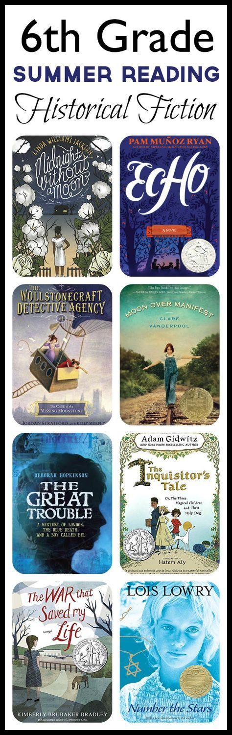 6th Grade Summer Reading List: HISTORICAL (ages 11-12)
