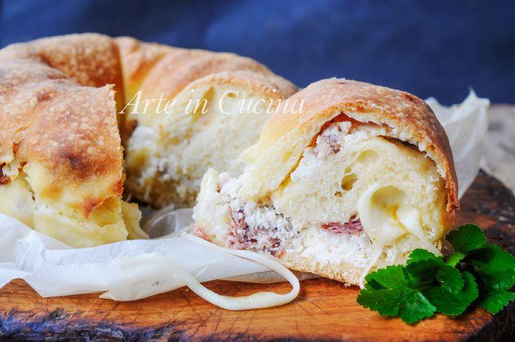 Ciambella+salata+alla+ricotta+e+prosciutto+soffice