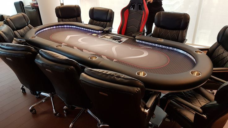 4'x10' custom poker table with leather and USB ports