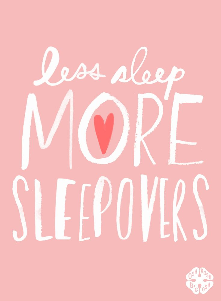 Summer sleepovers are the best!