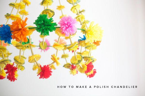 GIANT POLISH CHANDELIER DIY