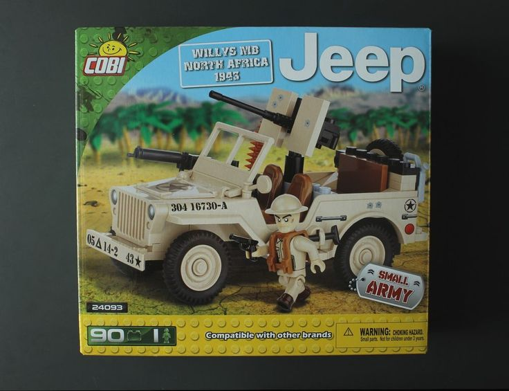 Cobi Small Army Willys MB North Africa 1943 Jeep tan World War 2 building blocks #Cobi