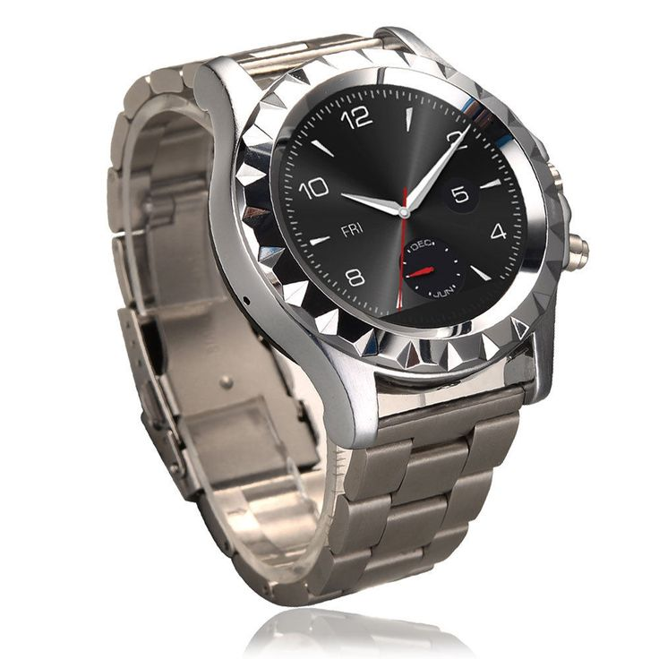T2 MTK6260 Waterproof Bluetooth Smart Watch for Android Steel Band Silver #UnbrandedGeneric
