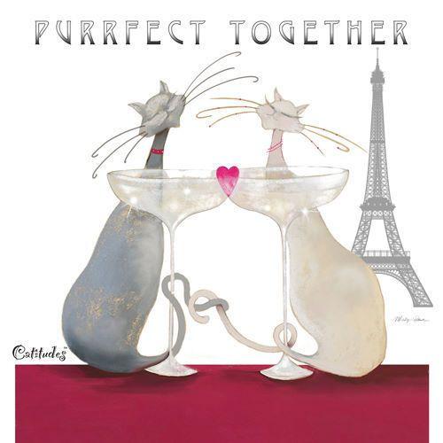 Marilyn Robertson Fizzy Dizzy Love Fertig-Bild 30x30 Katze Cat Katzen Comic Paar in Möbel & Wohnen, Dekoration, Bilder & Drucke | eBay!