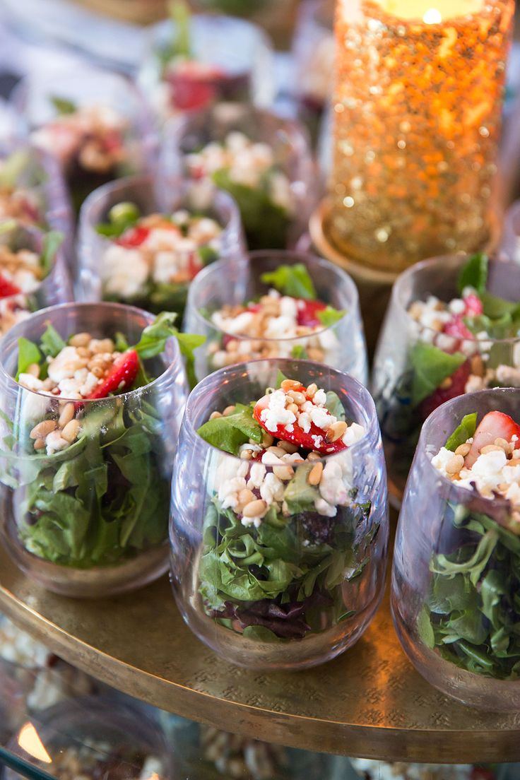 Mini Salads for Weddings, Parties! Adore!