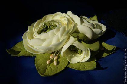 Ранункулюсы из ревелюр (фом) - ранункулюсы,цветы из фоамирана,цветы из фома