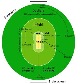 A typical cricket field.