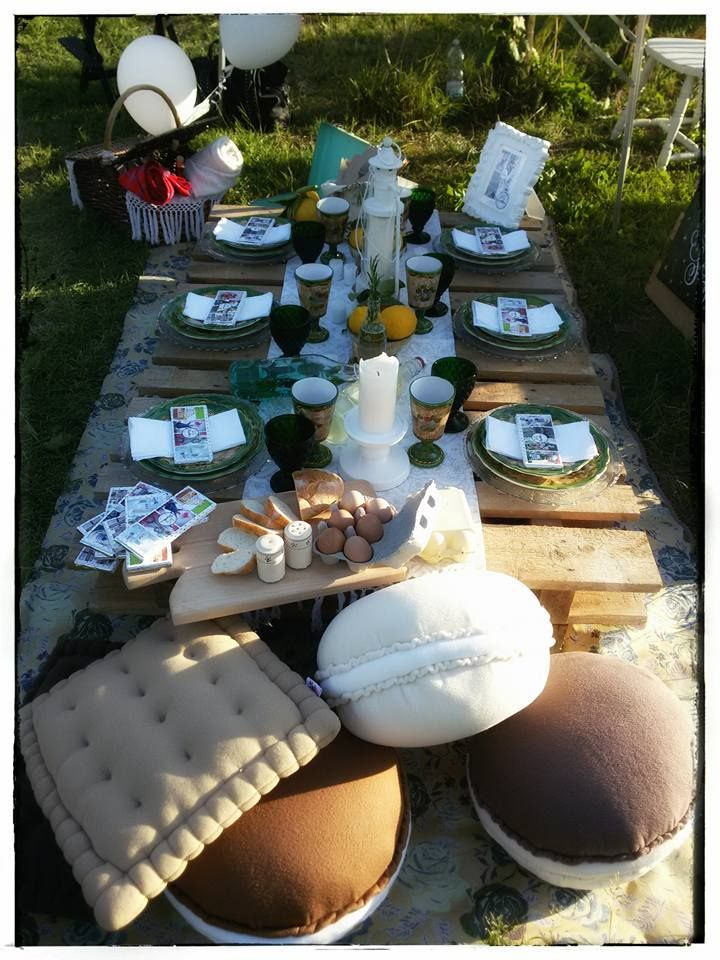 pic nic, dolci cuscini, profumo d'estate, wedding planner