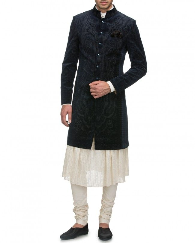 Blue Sherwani