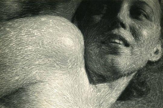Zdzisław Beksiński, Portret Zofii, wrzesień 1953 r., fotografia eksperymentalna