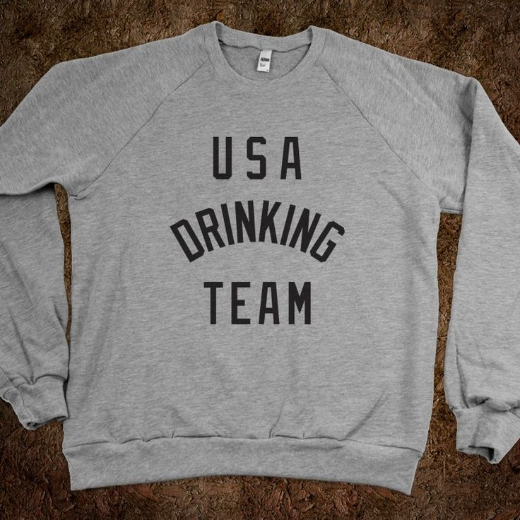 USA Drinking Team, not everyone can be athletes...